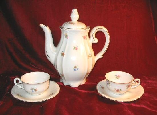Germany US Zone Tea Set Saucer Cup Teapot Tea Pot Porcelain IJB