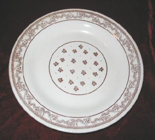 Vintage Oxford Stoneware Dinner Serving Plate Brazil 9""