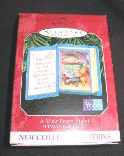 Hallmark Ornament Winnie The Pooh A Visit from Piglet 1 QXD4086