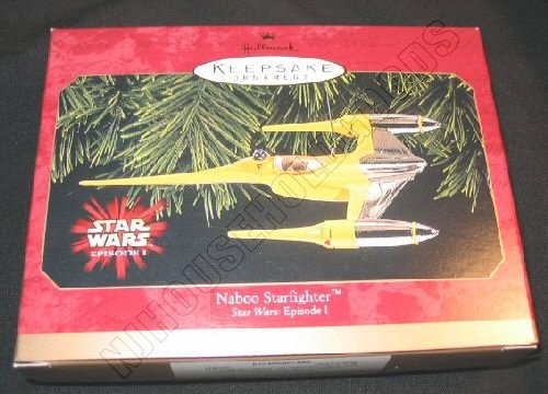 Hallmark Ornament Naboo Starfighter Star Wars Episode I QXI7613