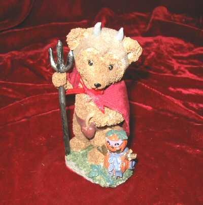 New Ganz Halloween Teddy Bear Pumpkin Devil