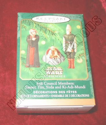 2000 Hallmark Ornament Star Wars Episode I Jedi Council QXI6744