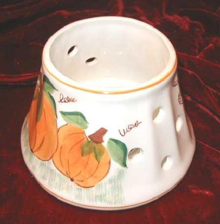 New Halloween Candle Jar Shade Fall Harvest Pumpkin