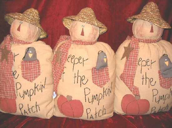 New Halloween Decor Fabric Dolls Pumpkin Patch