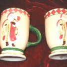 2 Oxford Elite Snowman Mug Christmas Hand Painted