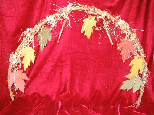 New Halloween Decor Straw Leaves Wreath Hanging