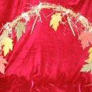 New Halloween Decor Straw Leaves Wreath Hanging