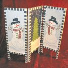 Ganz Tri-fold HandPainted Christmas Snowman Table Decor