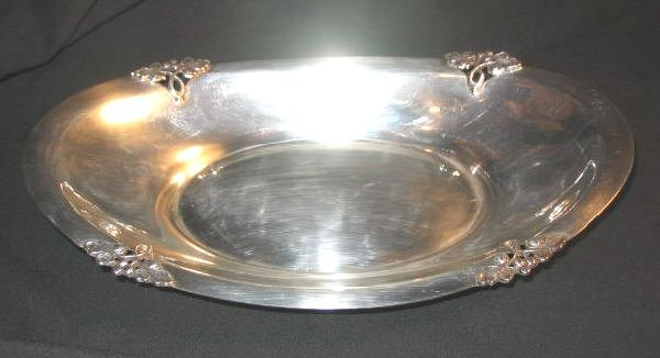 Fisher Silversmith Fishersmith Silverplated Serving Tray K260 Silver