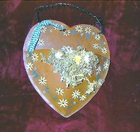 2x 3D Heart Shaped Copper Wall Hanging Decor Mail Holder