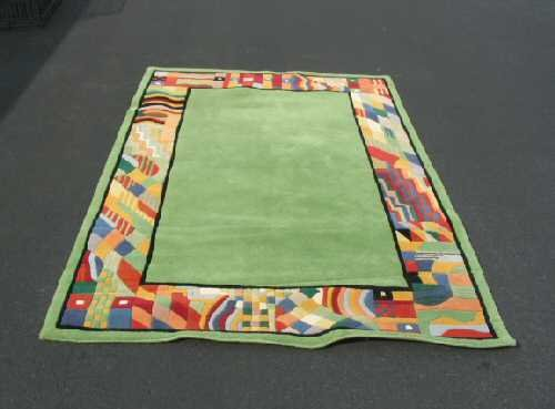 Merriment Green Hand Tufted Virgin Wool Rug Carpet 5x8