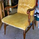 Vintage Spindle Back Padded Maple Dining Chair