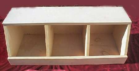 Solid Pine Art Craft Storage Display Cabinet Toys