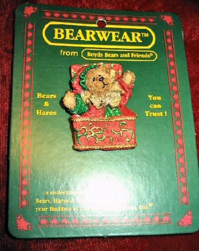 Boyds Bears Bearwear Jack B. Twinkletune Resin Pin 50008