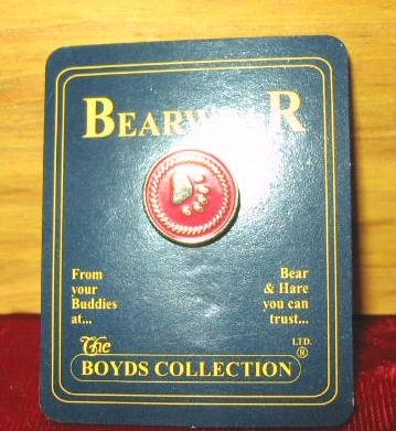 NEW Boyds Bears Pawprint Logo Lapel Pin Bearwear