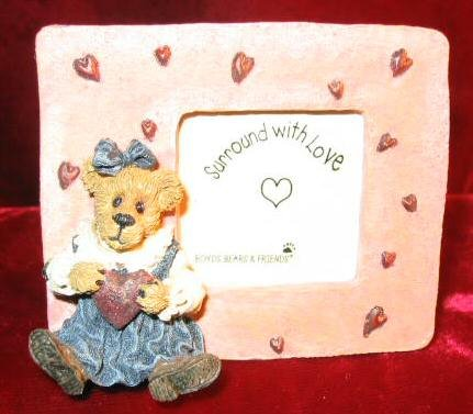 Boyds Bearstone Juliet Bearilove Have A Heart Pix Frame 82009