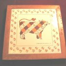 Kamenstein Ceramic Tile Coaster Wall Decor Milk Cow