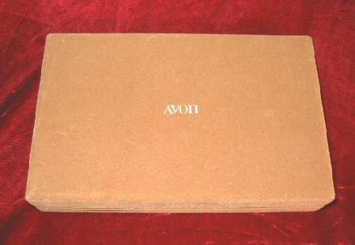 Vintage Lady's Brown Avon Jewelry Case Box Velvet