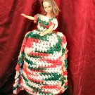 "14"" Hand Made Barbie Doll Crocheted Craft Dress Gown"