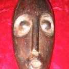 African Carved Wood Mask Art artifact Face Primitive