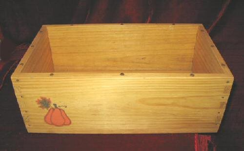 BOYDS BEAR PUNKINBEARY HARVEST WOODEN CRATE