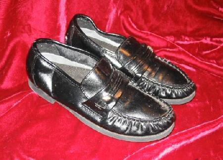 Mens Comfort Plus Black Dress Shoes Loafers 6.5
