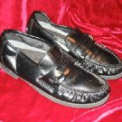 Mens Comfort Plus Black Dress Shoes Loafers 6.5