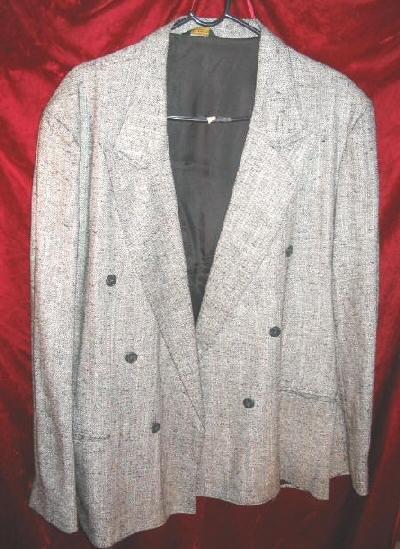 Vintage Cotler Gray Suit Sports Jacket Coat Sz 42 Made in USA