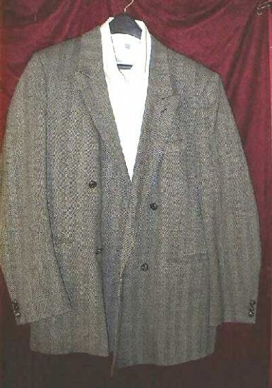 David Burr 100% Pure Wool Suit Jacket 42 w/ FREE Bonus Shirt