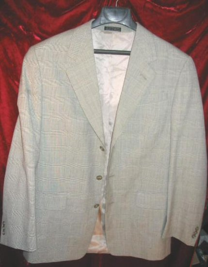 Nice Gray Diamanti Wool Suit Sports Jacket Fine Tailored Clothing Russia Sz 40
