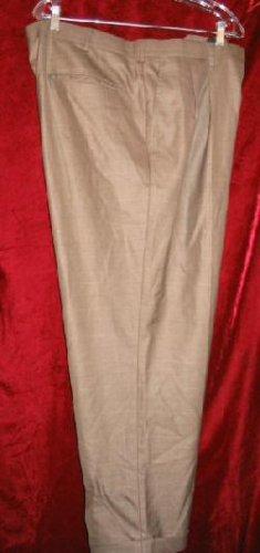 Mens George Brand Slacks Brown Dress Pants 42x30