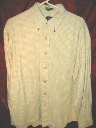 Mens Van Heusen Long Sleeve Cotton Button Shirt XL