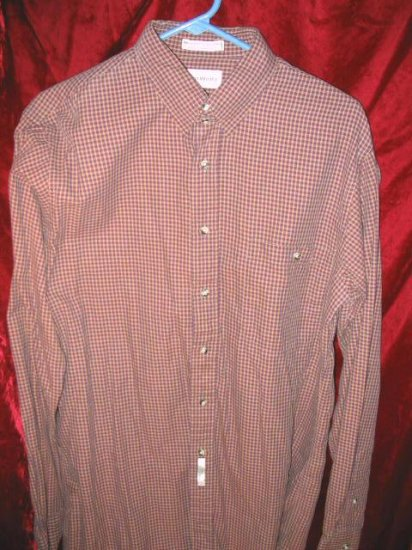 Mens John Weitz Long Sleeve Cotton Button Shirt 16