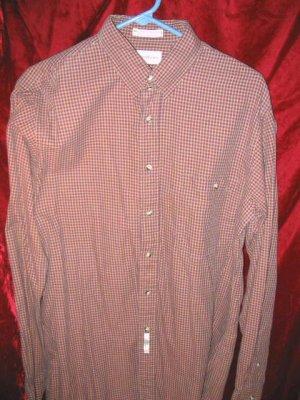 Mens John Weitz Long Sleeve Cotton Button Shirt 16