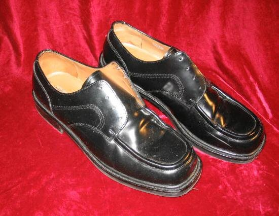 Mens Lord & Taylor Remington Black Leather Shoes 11M