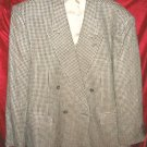 Vintage Mens Brown 100% Silk Suit Jacket Sports Coat 42