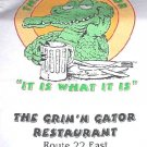 NEW White T-shirt Gator Alligator Crocodile Sz XL MenNR