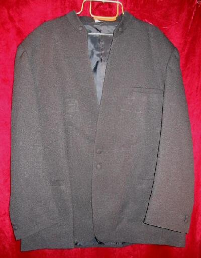 Mens Squire Club Black Suit Sports Jacket 50R