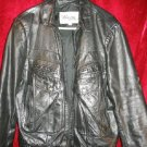 Mens Wilsons Black Bikers Genuine Leather Jacket Coat Thick 42 44