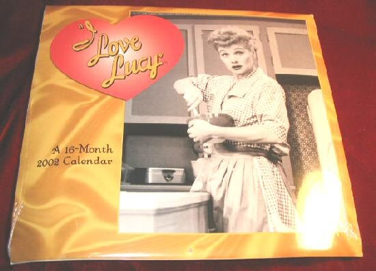 I love Lucy 2002 Calendar 16 Month SEALED Lucille Ball