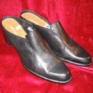 Like New Cherokee Black Leather Clogs Sandals SlipOn 11
