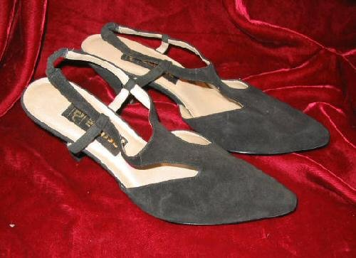 Womens Black Eclisse Suede Dress Shoes Pump 8 M