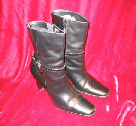 Nice J.G. Hook Black Leather Boots Shoes Town 7.5""""