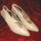 Like New Tan Jasmin Leather Shoes Pump Heel 8.5