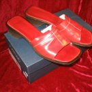 Joan & David Brown Leather Sandals Mule Slides Italy 9M