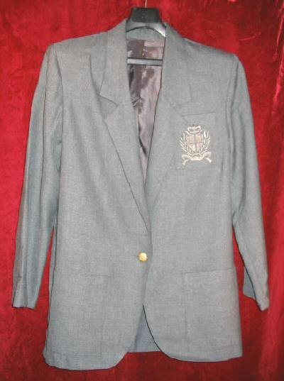 Womens Logo Gray Suit Sports Jacket Sz Small USA
