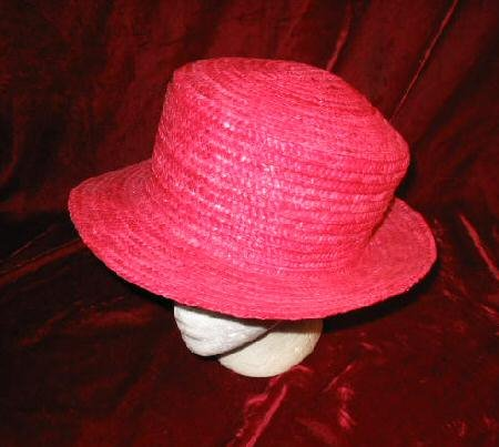 NEW Elegant Ashley Stewart  Pink Straw Hat