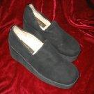 Womens Via Ravia Black Suede Shoes Pump Platform Sz 7.5