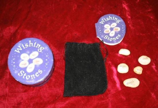 5 Nice Wishing Stones w/case Velvet Bag Instruction