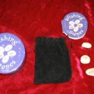 5 Nice Wishing Stones w/case Velvet Bag Instruction